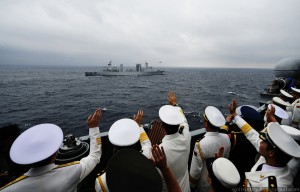 В Южно-Китайском море прошел масштабный парад китайского ВМФ3