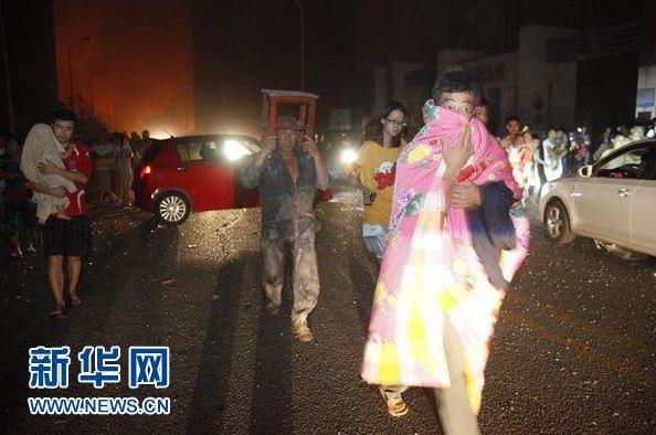 В одном из китайских мегаполисов прогремел мощные взрыв есть пострадавшие2