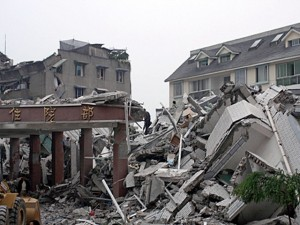 В результате землетрясения в Китае были повреждены около 20 000 зданий