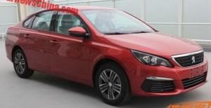 В сети появились фотографии нового Peugeot 308 для китайского рынка