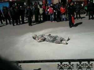 В знак протеста монахиня в Тибете сожгла себя заживо