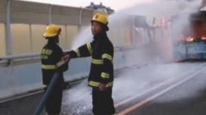 Задержан подозреваемый в поджоге автобуса в Лункоу