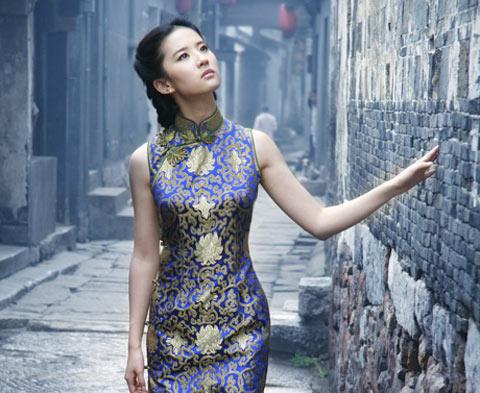 Традиционное китайское платье ципао