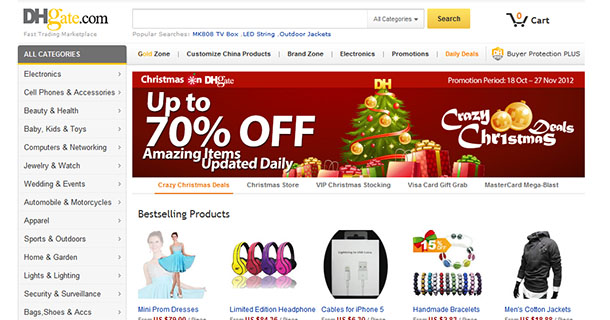 DHgate.com - площадка для оптовых покупателей