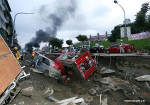 24 человека погибло в результате взрыва газопровода на Тайване