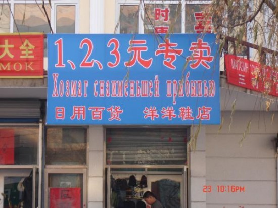 Магазин с наименьшей прибылью