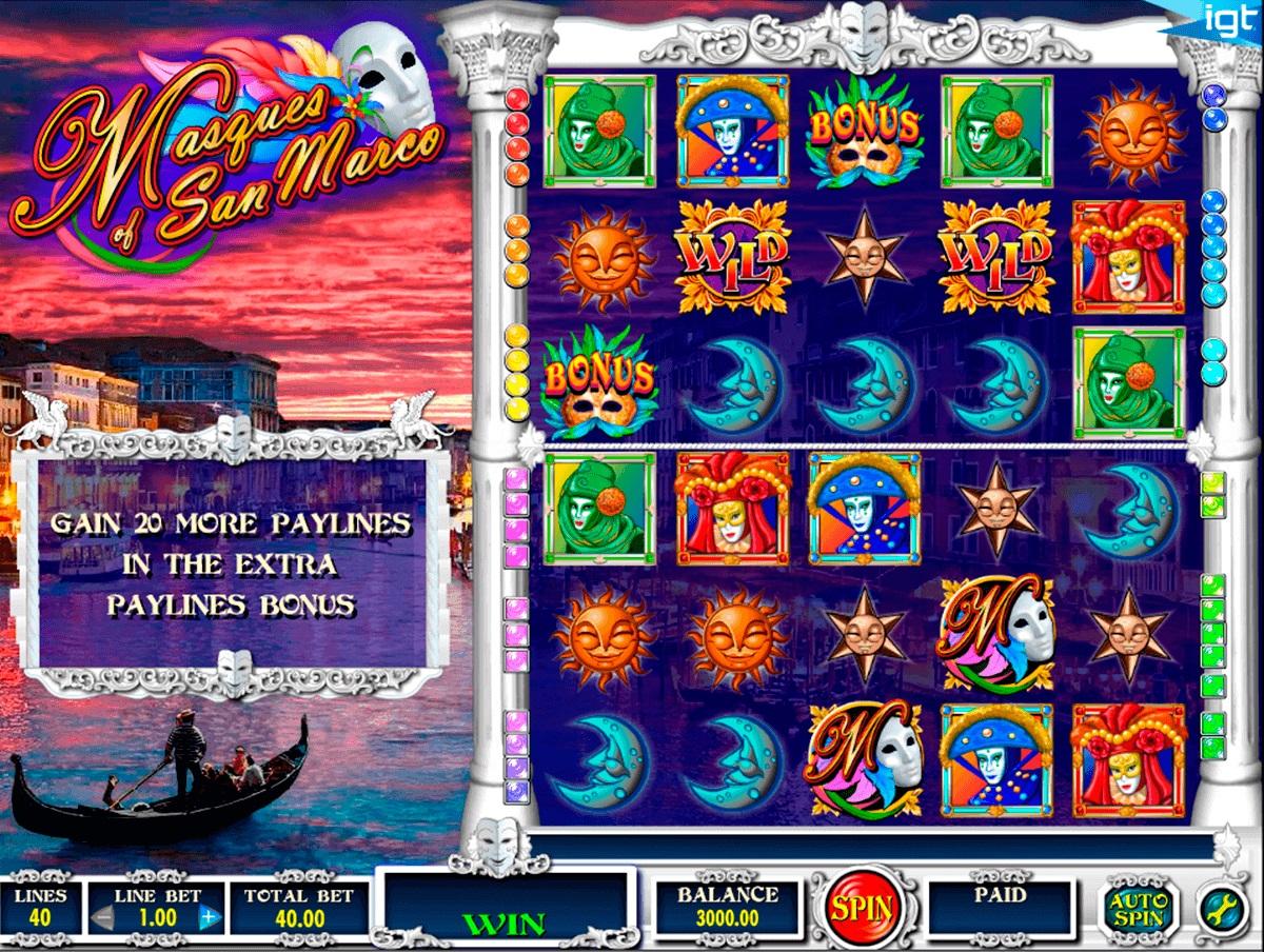 игровой автомат Masques of San Marco