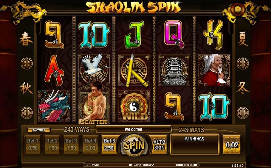 игровой автомат Shaolin Spin