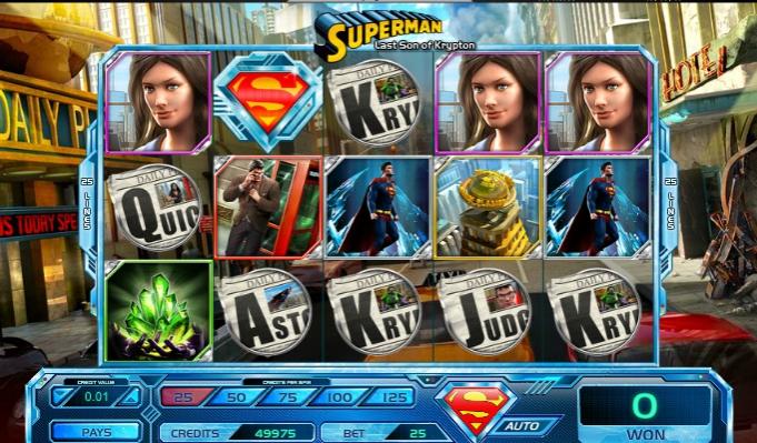 игровой автомат Superman – Last Son of Krypton