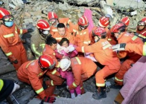 Из-за обрушения жилой постройки на востоке Китая погибли семь человек, ещё двое ранены