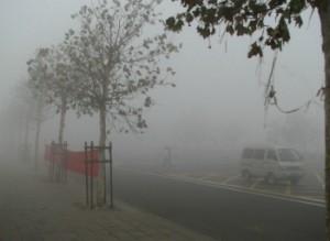 Часть автомагистралей в Пекине перекрыта из-за сильного смога