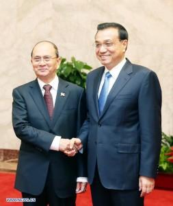 Ли Кэцян встретился с президентом Мьянмы и вице-президентом Индии
