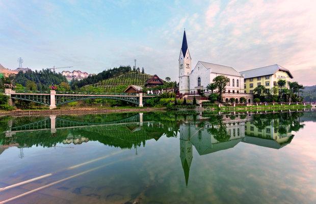 6 китайских копий знаменитых архитектурных сооружений мира