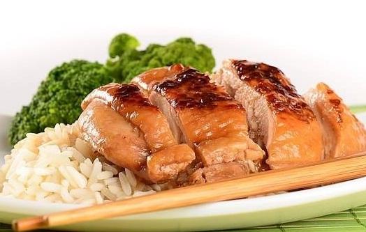 цыпленок под соевым соусом