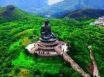 Огромная статуя Будды и монастырь По Лин