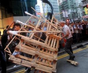 баррикады Гонконг