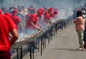 111-метровый шашлык приготовили в Суйфэньхэ