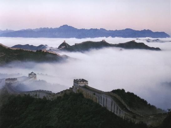 Участки Великой Китайской стены, открытые для туристов
