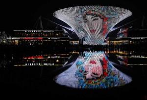 Световое шоу монохроматической живописи прошло в Шанхае