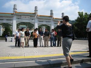turisti v Taiyvane